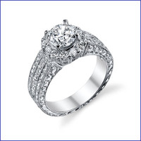 Gregorio 18K WG Diamond Engagement Ring R-418-1
