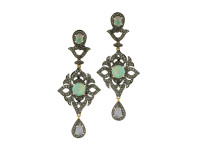 Opal & 2.90 Diamond Earring