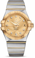 Omega Constellation Co-Axial 35 mm Brushed Steel & Yellow Gold 123.20.35.20.58.001