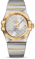 Omega Constellation Co-Axial 35 mm Brushed Steel & Yellow Gold 123.20.35.20.52.004