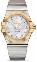 Omega Constellation Co-Axial 35 mm Brushed Steel & Yellow Gold 123.20.35.20.52.002