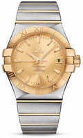 Omega Constellation Co-Axial 35 mm Brushed Steel & Yellow Gold 123.20.35.20.08.001