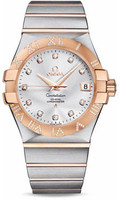 Omega Constellation Co-Axial 35 mm Brushed Steel & Red Gold 123.25.35.20.52.003