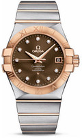 Omega Constellation Co-Axial 35 mm Brushed Steel & Red Gold 123.20.35.20.63.001
