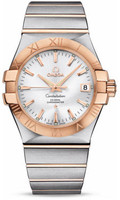 Omega Constellation Co-Axial 35 mm Brushed Steel & Red Gold 123.20.35.20.02.001