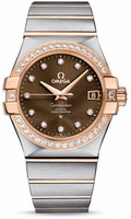 Omega Constellation Co-Axial 35 mm Brushed Steel & Red Gold 123.25.35.20.63.001