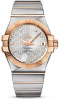 Omega Constellation Co-Axial 35 mm Brushed Steel & Red Gold 123.20.35.20.52.003