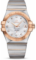 Omega Constellation Co-Axial 35 mm Brushed Steel & Red Gold 123.20.35.20.52.001
