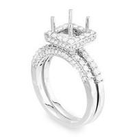 ?pave Two Piece Diamond Engagement Ring Set P15-9