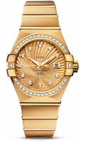 Omega Constellation Co-Axial 31 mm Brushed Yellow Gold 123.55.31.20.58.001