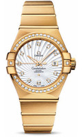 Omega Constellation Co-Axial 31 mm Brushed Yellow Gold 123.55.31.20.55.002