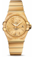 Omega Constellation Co-Axial 31 mm Brushed Yellow Gold 123.50.31.20.08.001