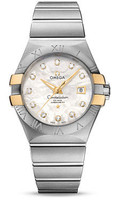 Omega Constellation Co-Axial 31 mm Brushed Steel & Yellow Gold Claws 123.20.31.20.55.004