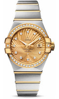 Omega Constellation Co-Axial 31 mm Brushed Steel & Yellow Gold 123.25.31.20.58.001