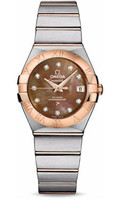 Omega Constellation Co-Axial 27 mm Brushed Steel & Red Gold 123.20.27.20.57.001