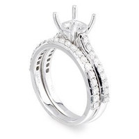 ?pave Two Piece Diamond Engagement Ring Set P15-5
