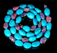 Mousson Atelier Riviera Beads Gold Turquoise Pink & Purple Sapphires B0044-0/2