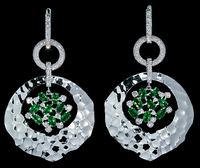 Mousson Atelier Oasis Collection Gold Tsavorite & Diamond Earrings E0027-0/4