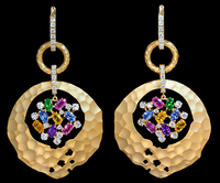 Mousson Atelier Oasis Collection Gold Sapphire & Diamond Earrings E0027-0/7