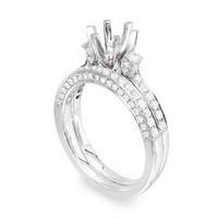 Pave Two Piece Diamond Engagement Ring Set P15-11?