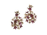 Ruby & 2.22 ct Diamond RG Flower Earring