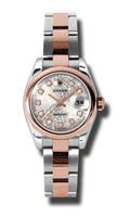 Rolex- Datejust Lady Steel & Pink Gold Domed Bezel Oyster 179161SJDO