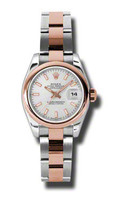 Rolex- Datejust Lady Steel & Pink Gold Domed Bezel Oyster 179161SIO