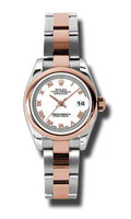 Rolex- Datejust Lady Steel & Pink Gold Domed Bezel Oyster 179161WRO