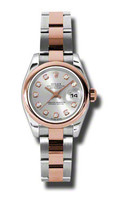 Rolex- Datejust Lady Steel & Pink Gold Domed Bezel Oyster 179161SDO