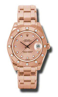 Rolex- Datejust 34mm Special Edition Pink Gold Masterpiece 12 Dia Bezel 81315PCHD