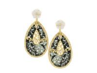 Jade & 3.21 ct Diamond Pear-Shaped Earring
