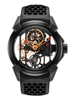 Jacob & Co Epic X Titanium with Black PVD/Rose Gold Manual Men's Skeleton Watch 550.100.21.NS.PX.4NS