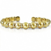 Imperial Golden South Sea Pearls & Diamonds CSYB008/GSS