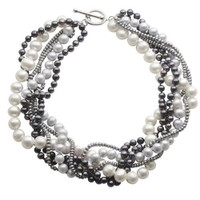 "Imperial 19"" Pearl Twisted Necklace 666808/MULTI"