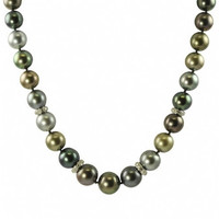 "Imperial 18"" Tahitian Pearl Necklace CSWN003/B"