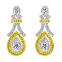 2.5 CT Diamond & 18K Earring