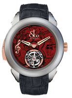 Jacob & Co Palatial Tourbillon Minute Repeater Titanium Red Dial Watch 150.500.24.NS.OR.1NS