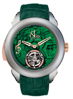 Jacob & Co Palatial Tourbillon Minute Repeater Titanium Green Dial Watch 150.500.24.NS.OG.1NS
