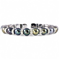 Tahitian Pearls & Diamond Bracelet