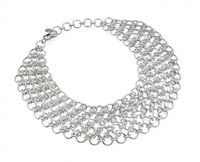 Thistle & Bee Silver Infinity Five-Strand Necklace