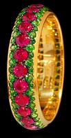 Mousson Atelier Dorojka Collection Gold Ruby & Tsavorite Ring R0103-0/23