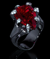 Mousson Atelier Cosmos Collection Rubellite Tourmaline & Diamond Ring R0040-0/1