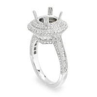 1.65ct Micro-pave Semi-mount Diamond Engagement Ring