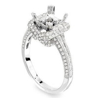 1.0 Ct Diamond Engagement Ring Setting (princess Cut)