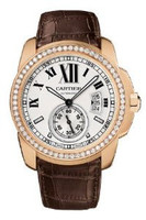 Cartier Calibre De Cartier (RG Diamonds/ Silver /Leather)
