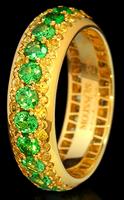 Mousson Atelier Dorojka Tsavorite & Sapphire Ring R0103-0/8