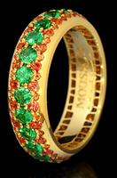Mousson Atelier Dorojka Tsavorite & Sapphire Ring R0103-0/15