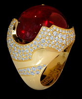 Mousson Atelier Caramel Tourmaline & Diamond Ring R0034-0/2