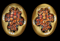 Mousson Atelier Caramel Collection Gold Sapphire & Diamond Earrings E0034-2/4