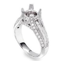 .82 Ct Diamond Engagement Ring Setting